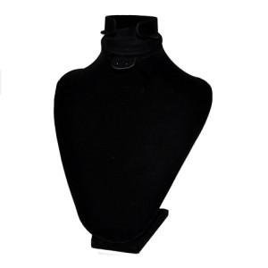 Бюст из черного бархата для набора, арт.B048