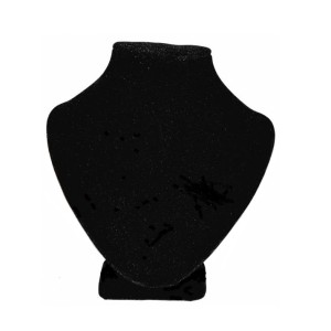 Бюст из черного бархата, арт.B005