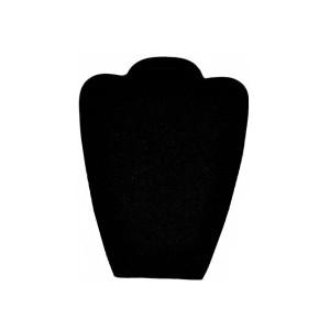 Бюст плоский из черного бархата, арт.B013
