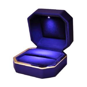 Футляр с подсветкой под кольцо, цена указана за 6шт.