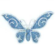 Брошь «бабочка» в стразах