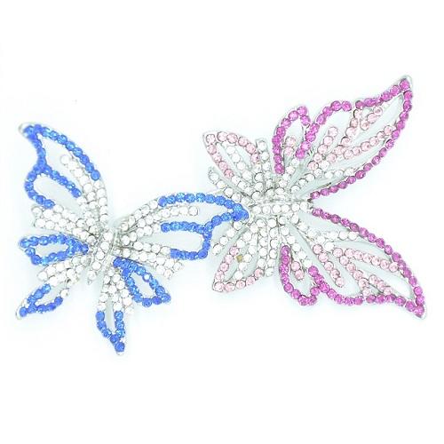 Броши цветные «бабочки»
