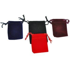 Мешочки из бархата для украшений, цена указана за 100 шт. арт. M14