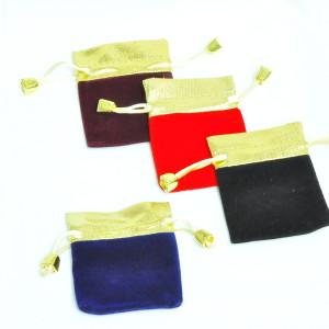 Мешочки из бархата+парчи для украшений, цена указана за 100 шт.
