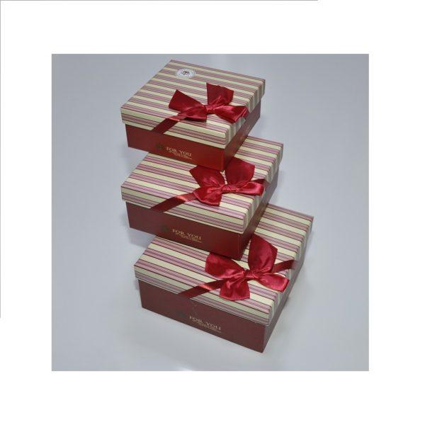Набор подарочных коробок из 3-х шт, арт.K-01