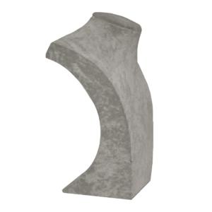Бюст малый из серого бархата, арт.B104