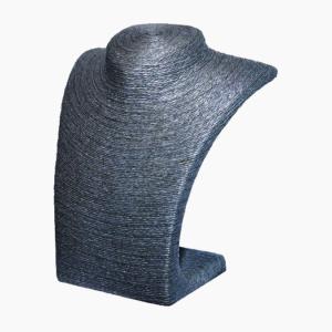 Шея плетеная, черная, малая. арт.B0107