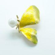 Брошка «бабочка» с жемчугом