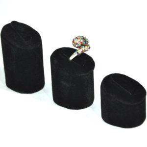 Подставки под кольца черные