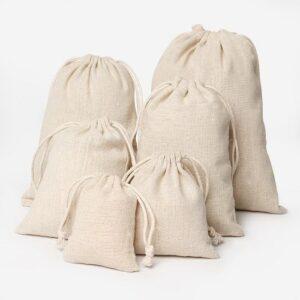 Мешочки из льна для украшений, цена указана за 100 шт.